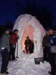 All done! Our igloo was warm and even equipped with delicious smelling candles!